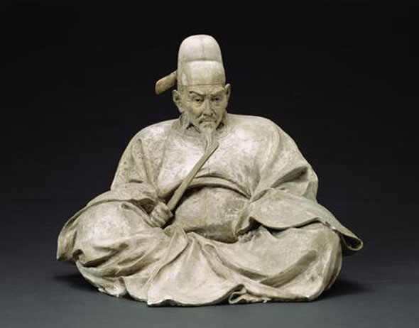 Figure 11 Plaster carving of Toyotomi Hideyoshi by Ishikawa Kōmei. In the collection of the Tokyo University of Fine Arts and Music.