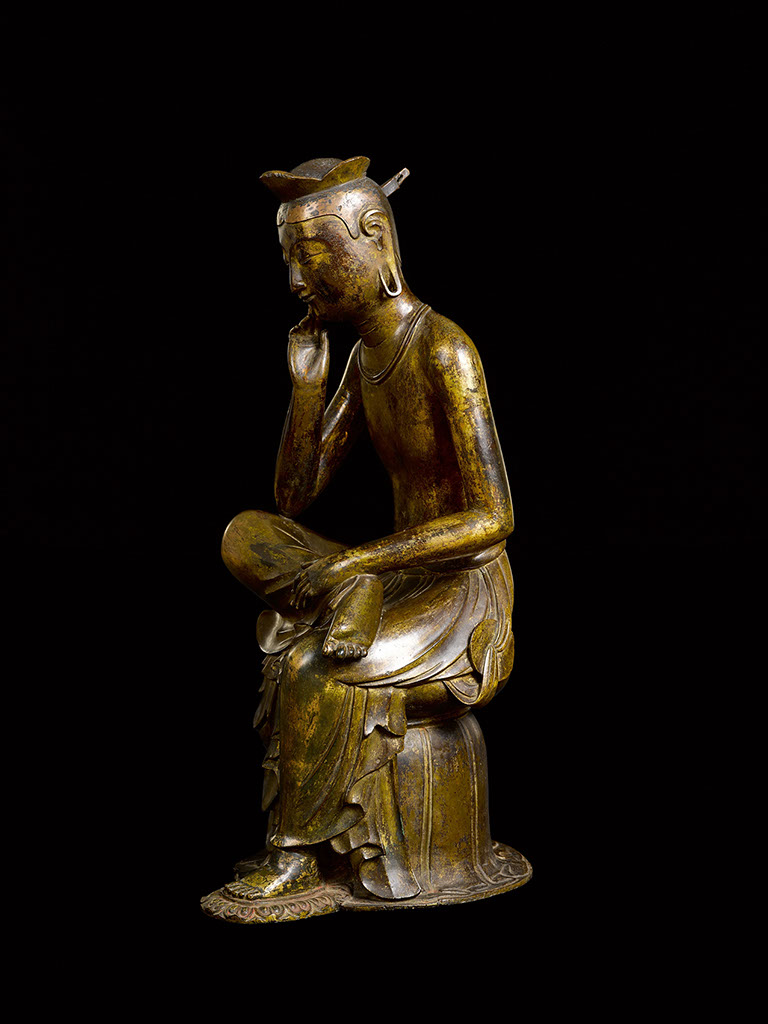 Figure 16b Pensive bodhisattva statue, NT83, frontal, side, and rear view. Courtesy of the National Museum of Korea.