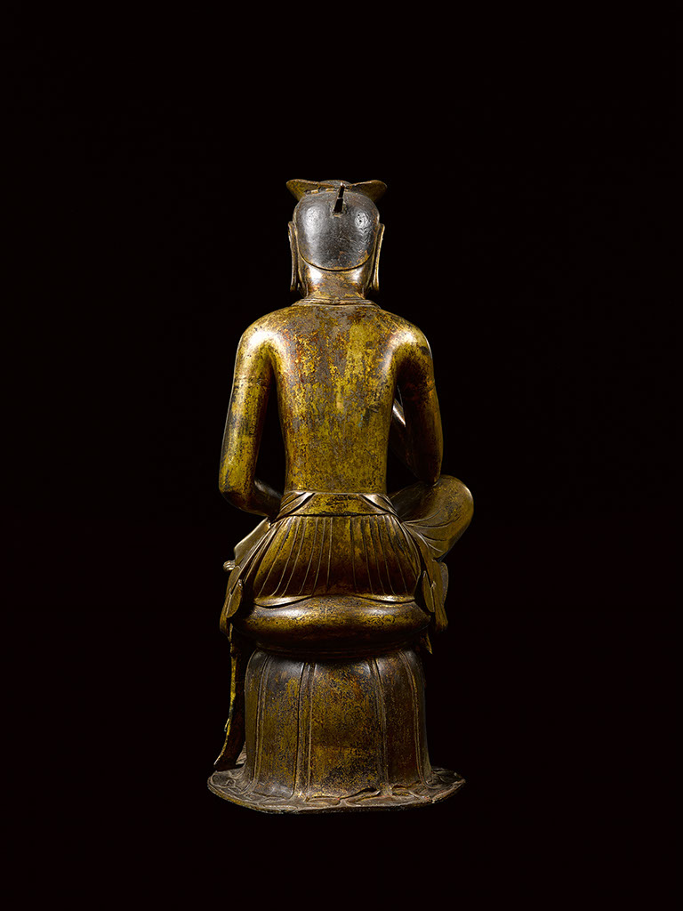 Figure 16c Pensive bodhisattva statue, NT83, frontal, side, and rear view. Courtesy of the National Museum of Korea.