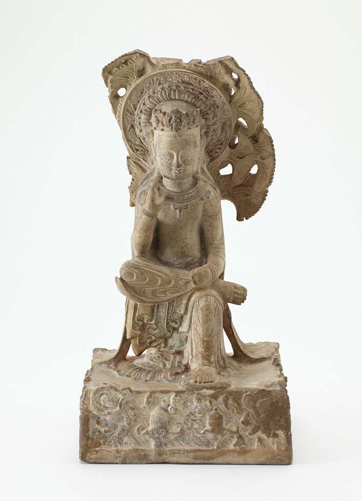 Figure 19 Pensive statue (front and side views) in Hebei style. Freer Gallery of Art, Smithsonian Institution, Washington, DC.: Gift of Charles Lang Freer, F1911.411.